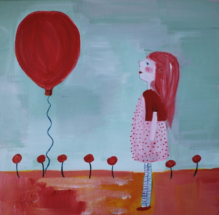 Girl with ballon