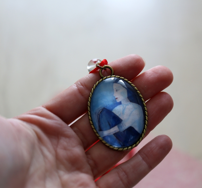 Miniature portrait necklace
