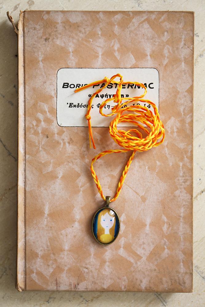 Miniature portrait necklace