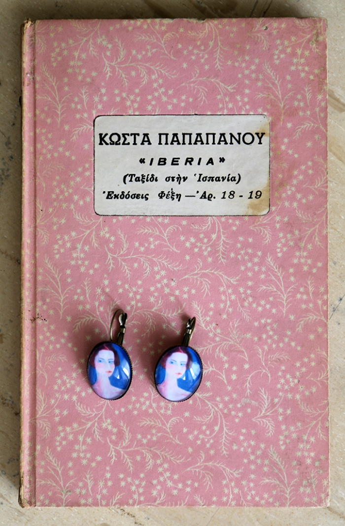 Miniature portrait earrings