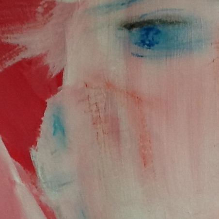 Unfinished portrait detail