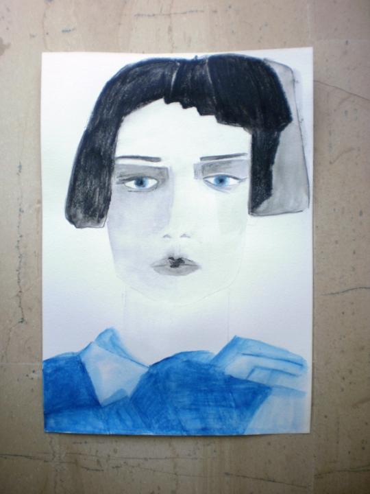 Portrait of an avant garde woman