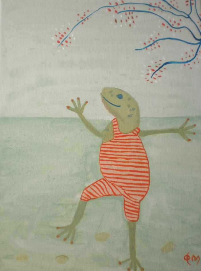 Swimming frog