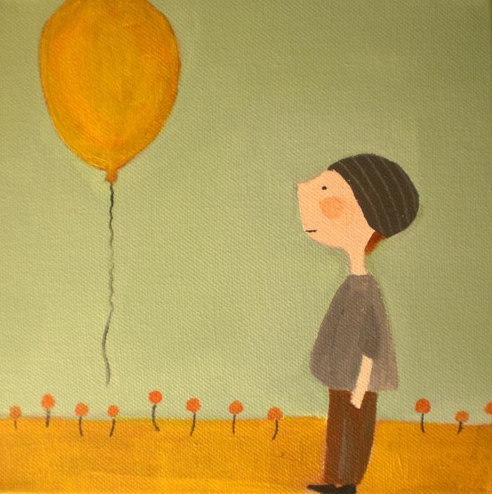 Boy with ballon