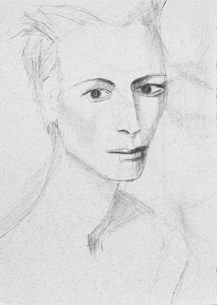 Pencil drawing of a woman